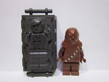 Lego Star Wars CHEWY and HAN SOLO Carbonite minifigure lot 9516 100% REAL LEGO
