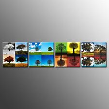 FRAMED Modern Landscape Printing Canvas Trees Picture Wall Art For Room-4pcs