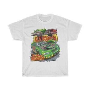 Vintage Jurassic Park Nascar T-shirt Bobby Labonte 2001 Racing White TK1247