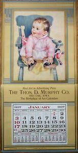 "Baby & Doll 1937 Advertising Calendar / 15"" x 30"" Poster: Where's My Bottle?"