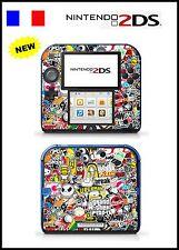 STICKER BOMB - Vinyl Skin Sticker for Nintendo 2DS - réf 131