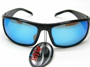 Strike King SG-SKP06 SK Plus Polarized Sunglasses Black/Blue - Fishing