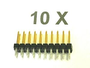20 Pin, Headers, Gold Plated, Straight, 2 Rows, (2x10), 0 3/32in, 10 Piece