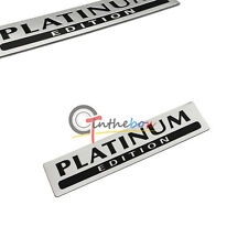 1X Aluminum PLATINUM EDITION for Special Limited Pathfinder Emblem Badge Sticker