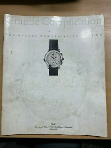 "IWC WATCH ""THE GRAND COMPLICATION"" HUGE ILLUSTRATED PAPERBACK BROCHURE BOOK (P4)"