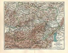 NIEDERÖSTERREICH Österreich St.Pölten Wien Klosterneuburg LANDKARTE  1906