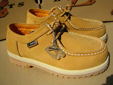 New Buffalino Men Leather Boots Size 7 Color Wheat Low Top