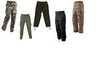 New Made USA BDU Tactical Cargo Pants. Black, Camo, OD,Tiger Stripe, Desert TS
