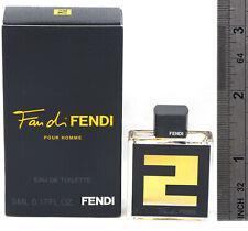 *Fan di FENDI*By Fendi Mini Cologne For Men EDT Splash .17 oz / 5 ml  New in Box