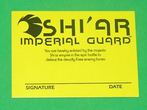 1991 Shi'ar Imperial Guard member ID PROMO CARD MARVEL Checklist GALACTIC STORM!