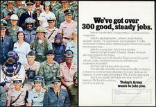 1972 US Army Scuba deep sea diver nurse etc photo recruitment vintage print ad