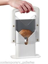New Contemporary White Original Non-Stick Bagel Cutter Guillotine Slicer Knife