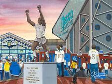 Leeds United Elland Road Stadium High Quality Framed Art Print. Approx A4