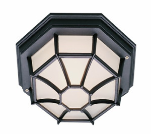 "Trans Globe Lighting 40582 RT Outdoor Benkert 5"" Flushmount Lantern Rust"