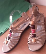 Ladies sandals size 9 (40) cream LIZA BRAND with bling embellishment