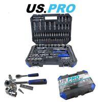 "US PRO 108PC 1/4"" & 1/2"" DR Metric Super Lock Socket Set 3277"
