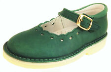 DE OSU - Girls Forest Green Leather Mary Janes - European - Shoes Size 6-10
