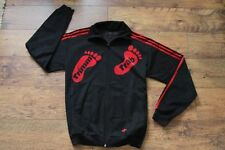 Adidas Vintage Black Trimm Trab Track Top S 100% Authentic
