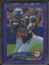 VON MILLER 2008 TOPPS CHROME PURPLE ROOKIE REFRACTOR RC #D 108/499