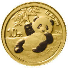 China - 10 Yuan 2020 - Panda - Anlagemünze - 1 gr Gold ST