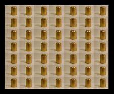 BEER BOTTLE SHRINK CAPS 55 SHORT NUGGET GOLD PVC HEAT SHRINK CAPSULES STANDS OUT