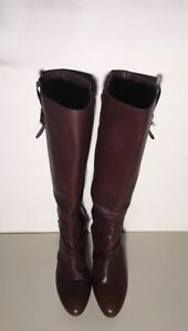 Cole Haan Women's Brown Leather Knee High Boots Size 10B EUC