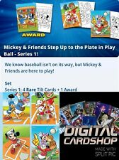 Topps Disney Collect Card Trader Mickey & Friends Play Ball Series 1 Set of 4