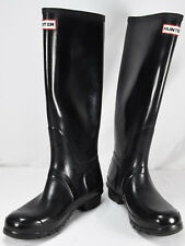 Hunter Original Tall Gloss Black Rubber Rain Boots Size Uk 7 US 8 9 F Eu 40 41