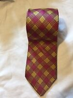 Duchamp All 100% Silk Mens Formal Tie Multi Stripes Red Yellow (C14)