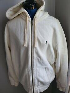 Polo Ralph Lauren zip Fleece Hoodie  CREAM UK L BNWOT
