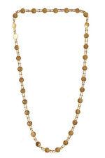 Stunning Dubai Handmade Chain Necklace In Solid Certified 18Karat Yellow Gold