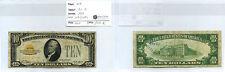 USA ETATS-UNIS 10 DOLLARS GOLD CERTIFICATE 1928 RARE N°2