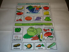 2 fruit and veg matching games