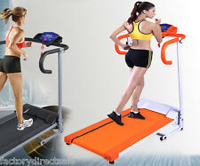 New 500W Folding Electric Treadmill Portable Motorized Running Machine Orange