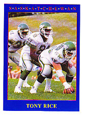 1990 JOGO CFL TONY RICE RC NOTRE DAME STAR QB