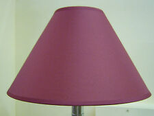 "BRAND NEW 12"" COTTON COOLIE PENDANT OR TABLE LAMPSHADE IN BURGUNDY COLOUR"