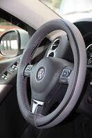 Grey PVC Leather Steering Wheel Stitch Wrap Cover Needle Thread DIY HHR Camaro