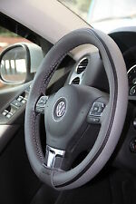 Grey PVC Leather Steering Wheel Stitch Wrap Cover Needle Thread DIY HHR Camaro