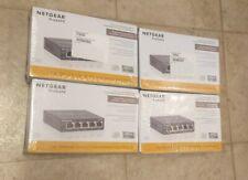 NETGEAR ProSAFE 5-Port 10/100 Desktop Switch Model No. FS105 lot of 4