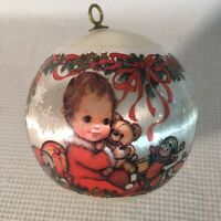 Hallmark 1977 Baby's First Christmas Satin Ornament Vintage