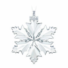 SWAROVSKI CRYSTAL 2014 CHRISTMAS ORNAMENT SNOWFLAKE 5059026 RETIRED GENUINE