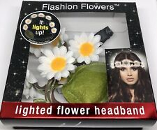 Flashion Flowers White Lighted Flower Headband