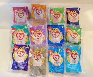 VTG Ty Teenie Beanie Babies McDonalds 1998 Happy Meal Toys Complete Set of 12