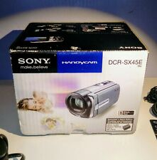 Sony DCR-SX45E Camcorder In Mint Condition
