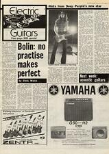 Deep Purple Tommy Bolin No Practice Makes Perfect MM5 Interview 1975