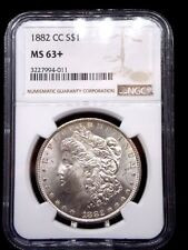 "1882 ""CC"" Morgan Silver Dollar $1 NGC MS63+ ""PLUS"" East Coast Coin & Collectable"