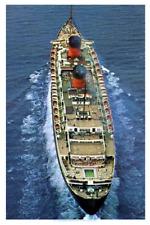 Queen Elizabeth Brochure Aerial View-Cunard Line Poster 12 x 18