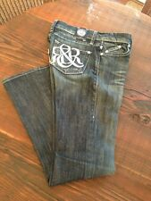 Rock & Republic Kasandra Henlee Embroidered Back Pocket Jeans size 25