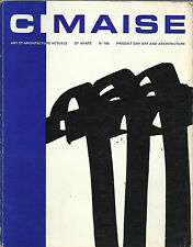 CIMAISE / ART ET ARCHITECTURE ACTUELS _ mars-avril-mai 1972 _N106_ GOERITZ, POLI