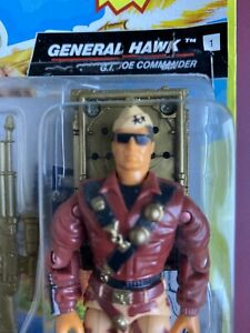 HASBRO G.I. Joe Talking Battle Commanders General Hawk Figure RE-SEALED CARD